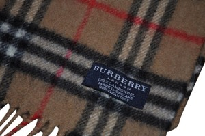 Burberry London Burberry Genuine Cashmere and Wool Classic Beige Plaid Scarf
