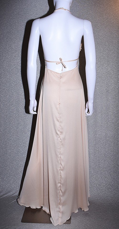 Lisa Nieves Champagne Color Halter Formal Dress Size 6 S Tradesy