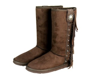 Montana West The Treasured Hippie Native American Cowgirl Western Coffee Boots
