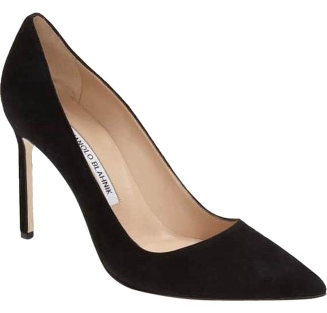 Item - Black Suede 'bb' Pointy Toe Pump Formal Shoes Size US 9 Narrow (Aa, N)