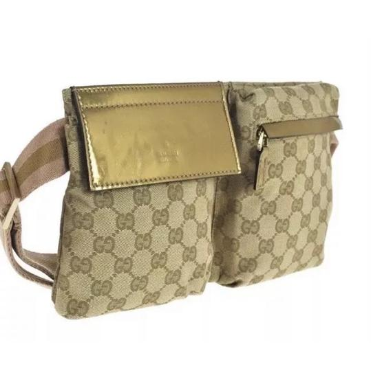 Gucci Sherry Pink X Gold Web Monogram Fanny Pack Waist ...