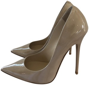 Jimmy Choo Patent Leather Stiletto Nude Pumps