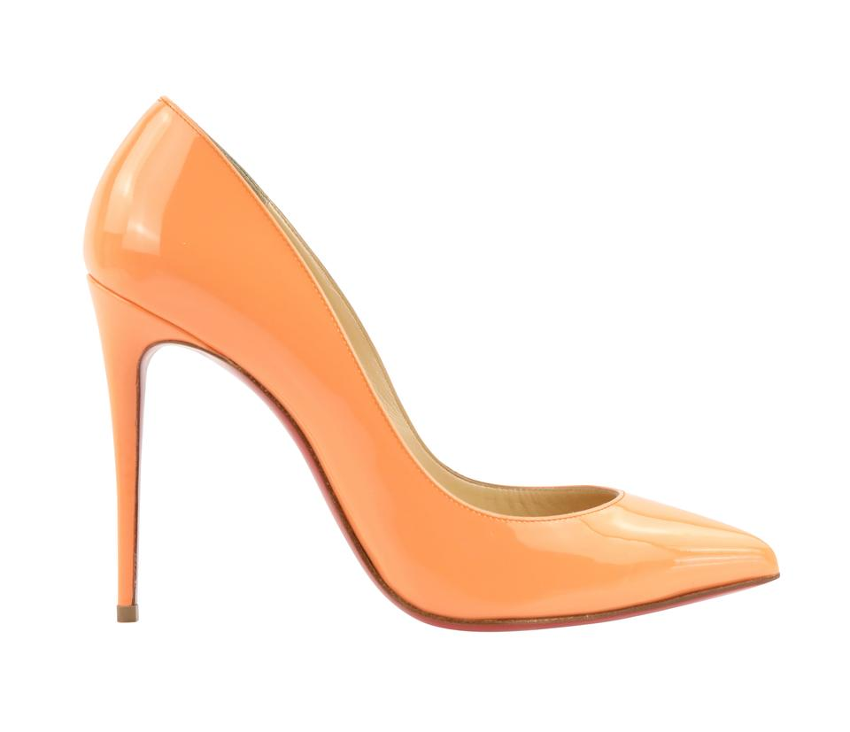 3de636e319b Christian Louboutin Orange Sunset Pigalle Follies Pumps Size EU 37.5  (Approx. US 7.5) Regular (M, B) 49% off retail