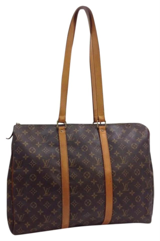 48737577bf03 Louis Vuitton Duffle Flanerie Monogram 45 Shoulder Tote Overnigh Brown  Leather + Canvas Weekend/Travel Bag 32% off retail