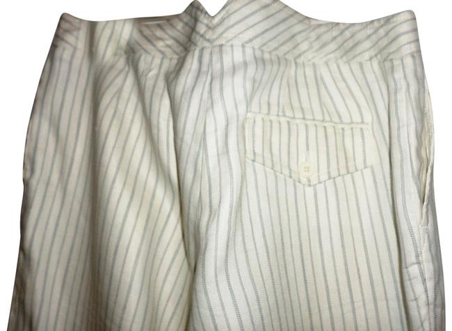 Item - Off White Pinstripe Perfect Trouser Navy Pants Size 6 (S, 28)