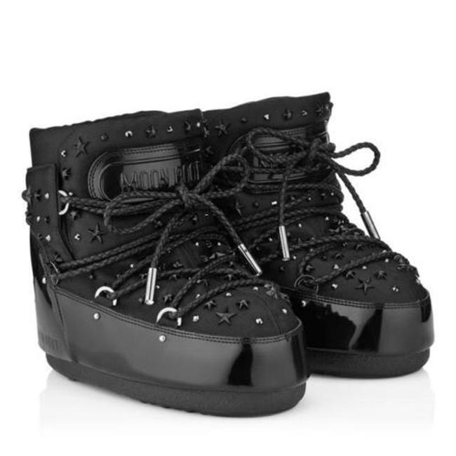 Item - Black 37 38 Mb Buzz Studded Patent Fabric Leather Boots/Booties Size EU 37.5 (Approx. US 7.5) Regular (M, B)