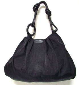 Sequoia Casual Classic Gathered Ring Handle Hobo Bag