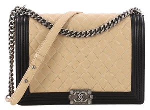 d16613f5ff5c Added to Shopping Bag. Chanel Lambskin Shoulder Bag. Chanel Classic Flap Boy  Bicolor Quilted Large ...