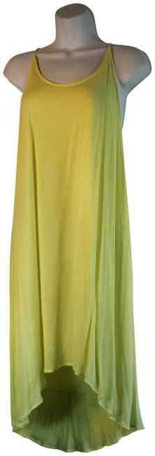Item - Yellow Dr92172-1 Short Casual Dress Size 12 (L)