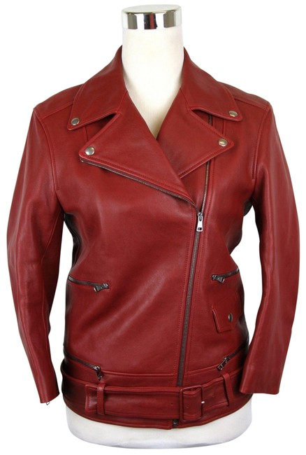 Item - Red W Women's Biker W/Quilted Lining It 46 411148 6405 Jacket Size 10 (M)