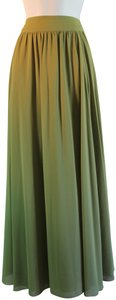 Edme & Esyllte Polyester Flowy Pleated Maxi Skirt green