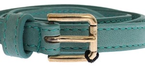 Dolce&Gabbana D25250-2 Women's Green Leather Belt (80 cm / 32 Inches)