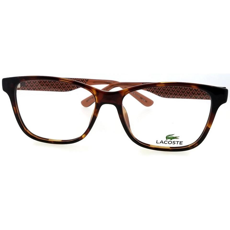 d878159f49 Lacoste Brown Frame L2774-210-54 Women s Clear Lens Genuine Eyeglasses