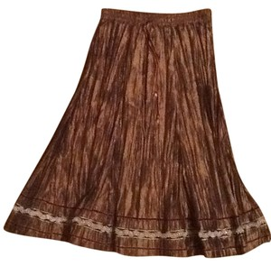 Jad Silk Broomstick Skirt Chocolate