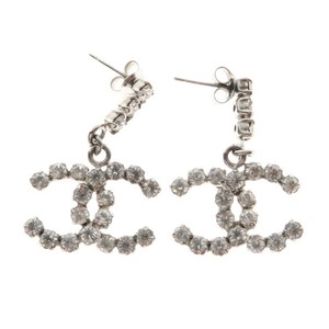 Chanel Large Crystals CC Drop Earrings