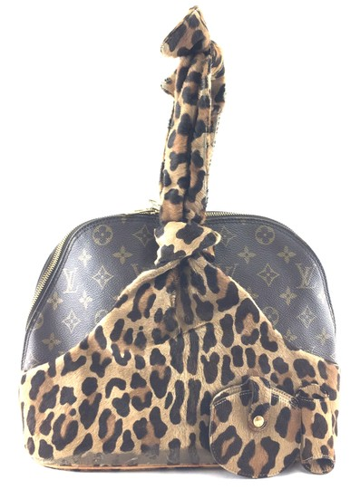Louis Vuitton Satchel in RARE Limited edition Azzedine Alaia Monogram and leopard print pony hair fur Image 1