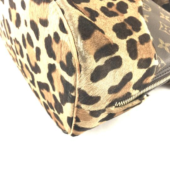 Louis Vuitton Satchel in RARE Limited edition Azzedine Alaia Monogram and leopard print pony hair fur Image 10