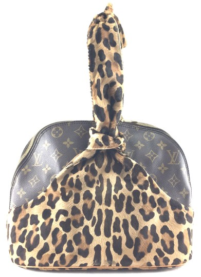 Louis Vuitton Satchel in RARE Limited edition Azzedine Alaia Monogram and leopard print pony hair fur Image 2