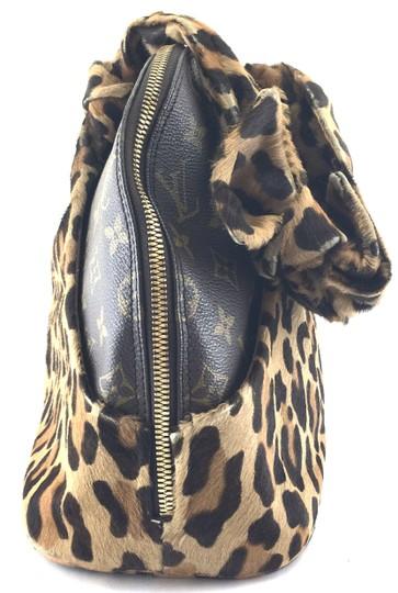 Louis Vuitton Satchel in RARE Limited edition Azzedine Alaia Monogram and leopard print pony hair fur Image 9