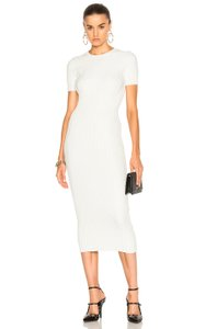 ivory Maxi Dress by Helmut Lang Midi Sweater Sweater Ribbed Knit