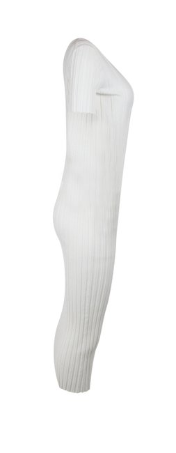 white Maxi Dress by Helmut Lang Ivory Ribbed Bodycon Image 1