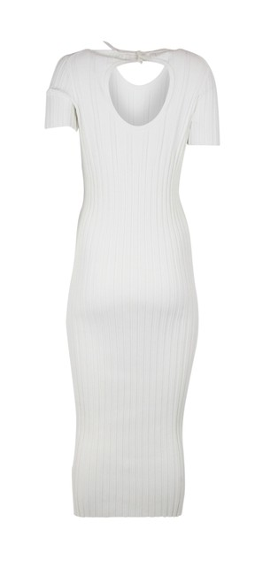 white Maxi Dress by Helmut Lang Ivory Ribbed Bodycon Image 2