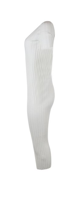white Maxi Dress by Helmut Lang Ivory Ribbed Bodycon Image 3