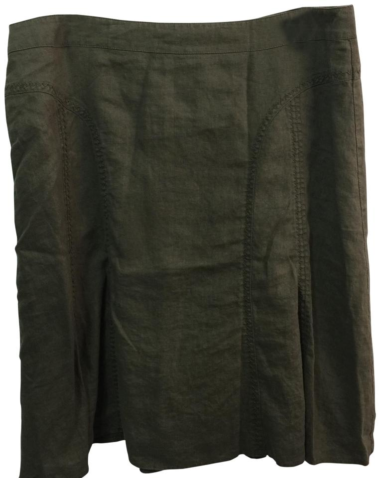 b165f53881 Steilmann Made In Germany Flax Linen Skirt Olive Green Image 0 ...