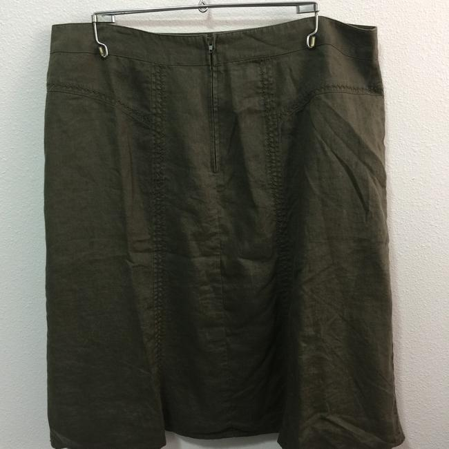 Steilmann Made In Germany Flax Linen Skirt Olive Green Image 1
