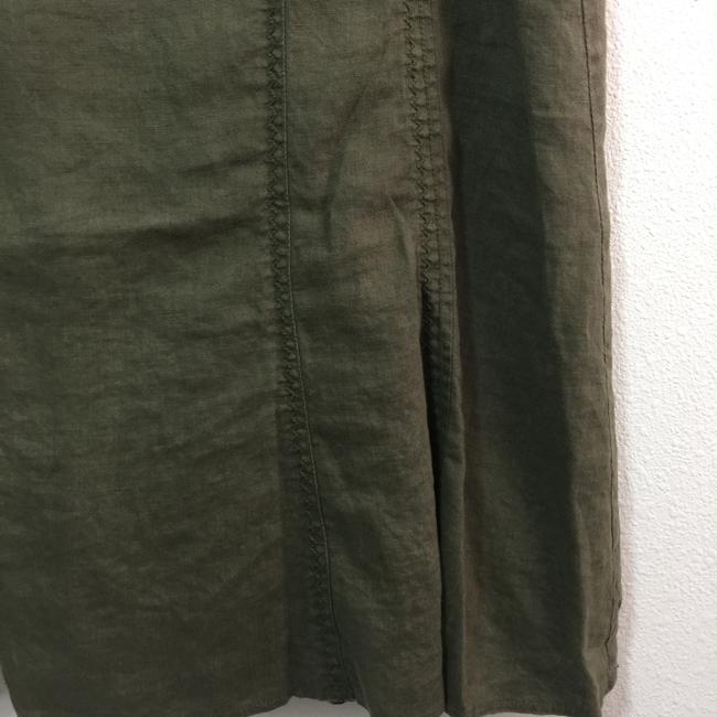 Steilmann Made In Germany Flax Linen Skirt Olive Green Image 2