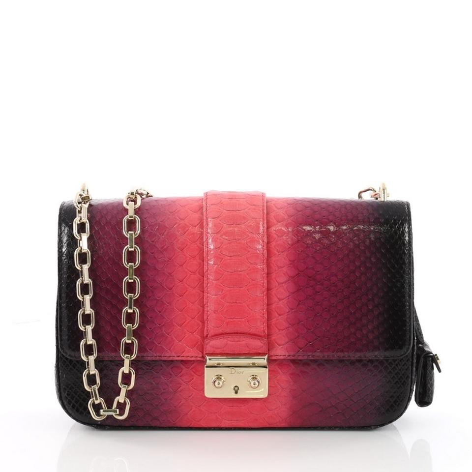 cf1a9d4ef3dd Dior Miss Flap Medium Pink and Purple Ombre Python Skin Leather ...