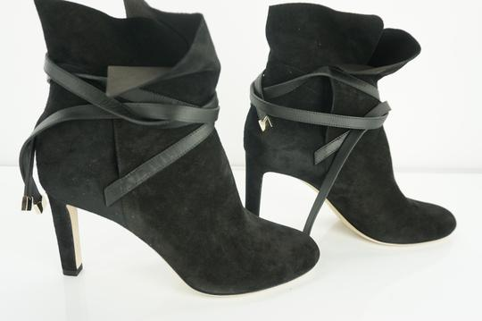 Jimmy Choo Cuff Tie Up Classic Formal Black Boots Image 11