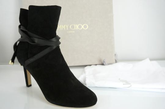 Jimmy Choo Cuff Tie Up Classic Formal Black Boots Image 2