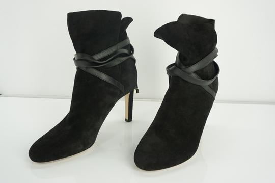Jimmy Choo Cuff Tie Up Classic Formal Black Boots Image 5