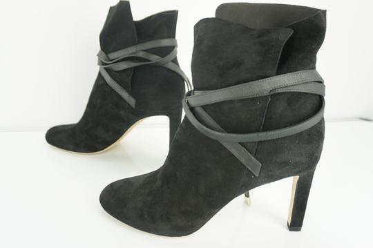 Jimmy Choo Cuff Tie Up Classic Formal Black Boots Image 6