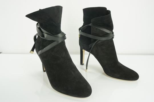 Jimmy Choo Cuff Tie Up Classic Formal Black Boots Image 8