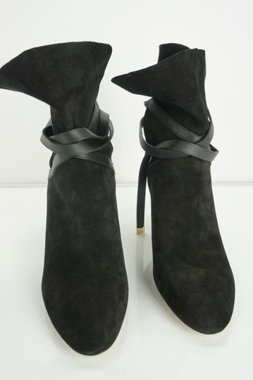 Jimmy Choo Cuff Tie Up Classic Formal Black Boots Image 9