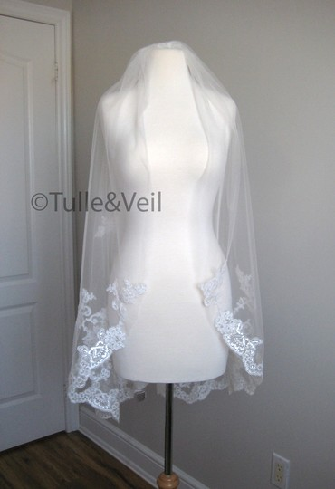 Preload https://img-static.tradesy.com/item/24124529/ivory-short-single-tier-finger-length-lace-beth-s-bridal-veil-0-0-540-540.jpg