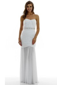 17-47066 Grecian Draped Wedding Dress
