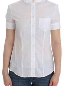 John Galliano D12559-3 Women's White Cotton Shirt Top (IT 40 / S)