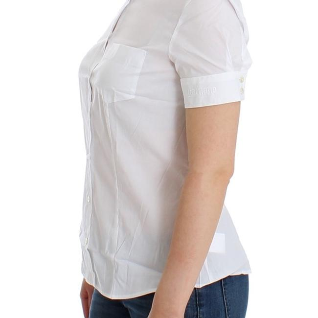 John Galliano D12559-3 Women's White Cotton Shirt Top (IT 40 / S) Image 1