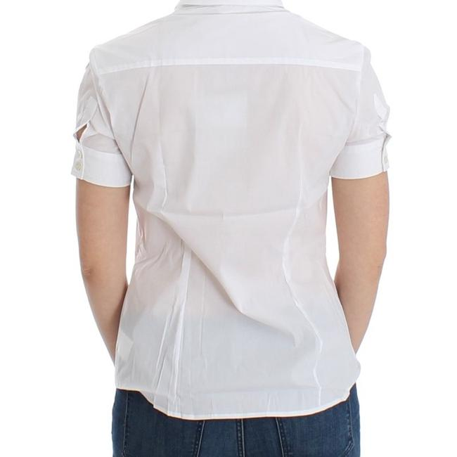 John Galliano D12559-3 Women's White Cotton Shirt Top (IT 40 / S) Image 2