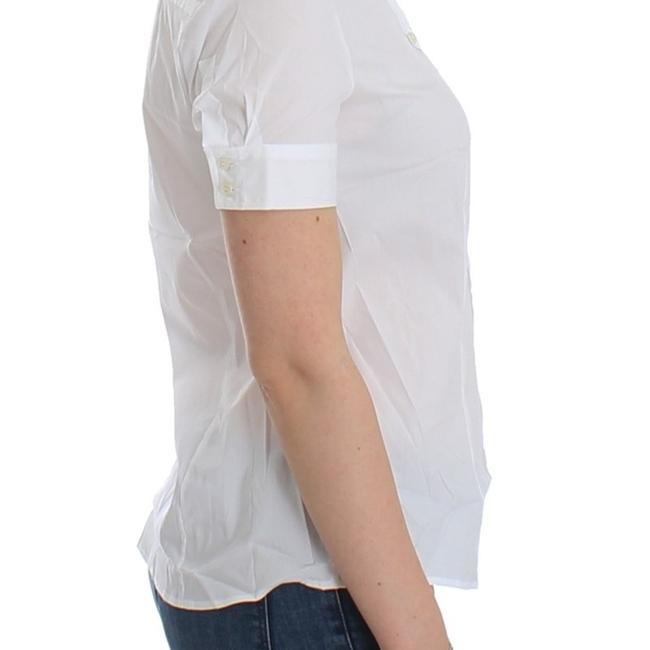 John Galliano D12559-3 Women's White Cotton Shirt Top (IT 40 / S) Image 3