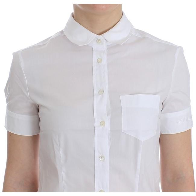 John Galliano D12559-3 Women's White Cotton Shirt Top (IT 40 / S) Image 4