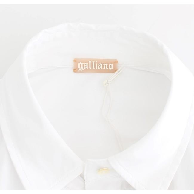 John Galliano D12559-3 Women's White Cotton Shirt Top (IT 40 / S) Image 6