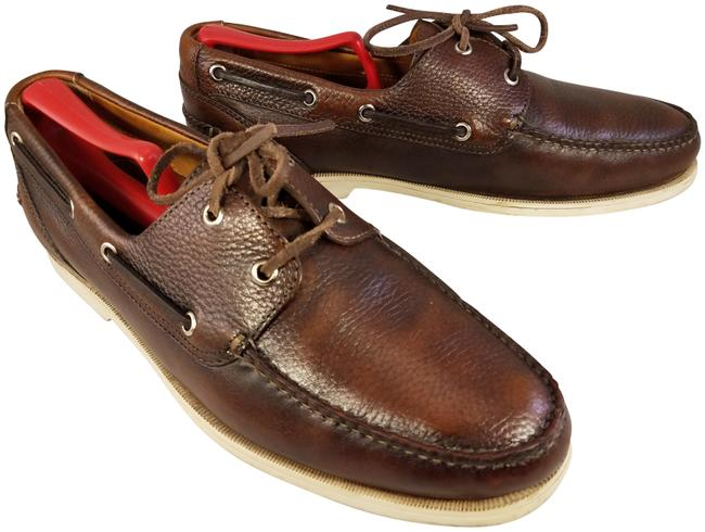 Item - Brown Man Dock Boat Oxfords Made In Brazil Nike Air Technology Formal Shoes Size US 10.5 Regular (M, B)