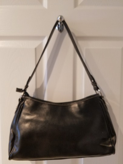 Ellen Tracy Faux Leather Silver Hardware Chic Soft Hobo Bag Image 3
