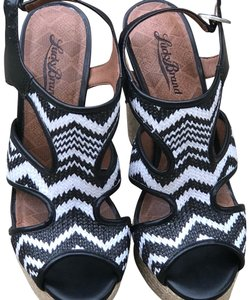 Lucky Brand Black and White Platforms