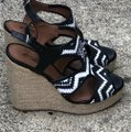 Lucky Brand Black and White Platforms Image 1