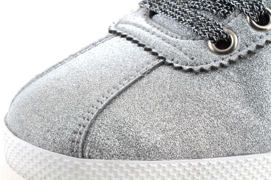 Gucci Silver Glitter Web Sneaker with Studs Shoes Image 10
